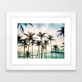 No Palm Trees Framed Art Print