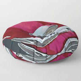 Classic Retro Car Art Series #1 in Gypsy Red Floor Pillow
