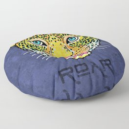 Roar / Retro Wild Cat Floor Pillow