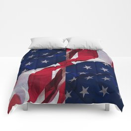 RED, WHITE AND BLUE Comforters
