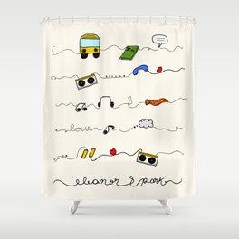 Eleanor&Park Shower Curtain