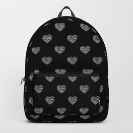 Love Volleyball Heart Backpack
