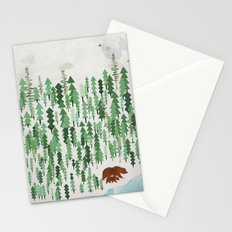 the green forest Stationery Cards