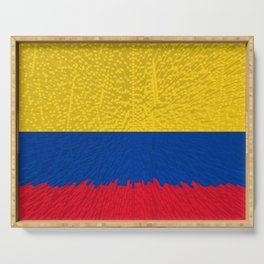 Extruded flag of Columbia Serving Tray
