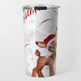 Merry Christmas in red 2 Travel Mug