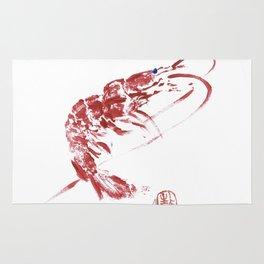 red shrimp Rug