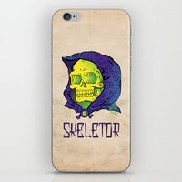 skeletor iPhone & iPod Skins featuring Old School Skeletor by Miguel Manrique
