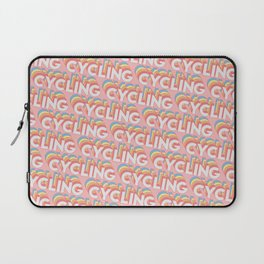 Cycling Trendy Rainbow Text Pattern (Pink) Laptop Sleeve