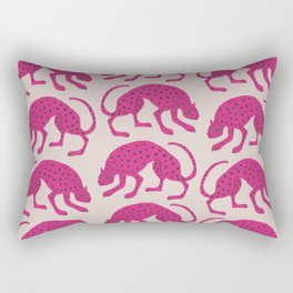 Wild Cats - Pink Rectangular Pillow