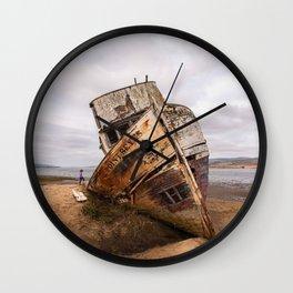 Point Reyes Shipwreck Photography, California Home Decor, Inverness Art, National Seashore Art, Boats Wall Clock
