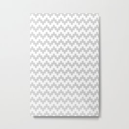 GREY ABSTRACT WAVE PATTERN Metal Print