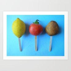 Lemon head, Tomato Head, Potato head... Art Print