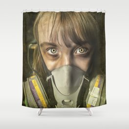 The day after ~ Survivor (treated version) Shower Curtain