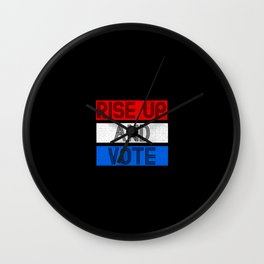 Rise Up And Vote Vintage Wall Clock
