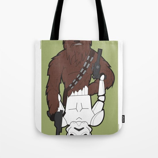 Chewbacca and Stormtrooper Tote Bag