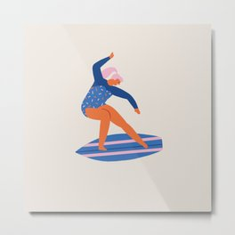 Surf girl Metal Print