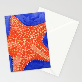 Orange Starfish Stationery Cards