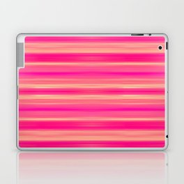 Coral and Pink Brush Stroke Painted Stripes Laptop & iPad Skin