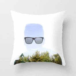"""Cloudmouth"" Throw Pillow"