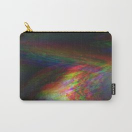 Rainbow Glitch Stain Carry-All Pouch