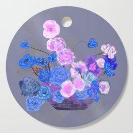 The arrangement in blue Cutting Board