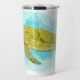 Sea Turtle in Watercolor Travel Mug