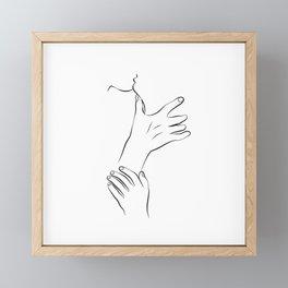 The Kiss Framed Mini Art Print