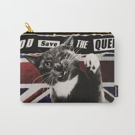 God Save The Queen Cat Carry-All Pouch