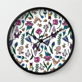 Garden Gnomes and Animals Wall Clock