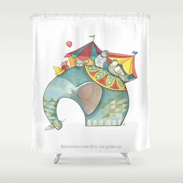 Circus Elephant Shower Curtain