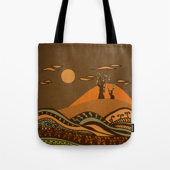 psychedelic mountains Tote Bag
