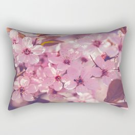 Sakura photography, pink blossoms Rectangular Pillow