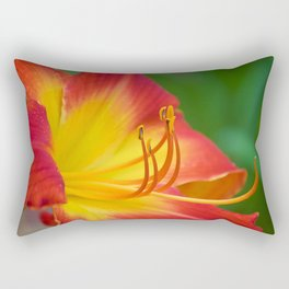 Ruby Spider Day Lily Rectangular Pillow