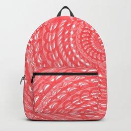 Pink Denim Mandala Backpack