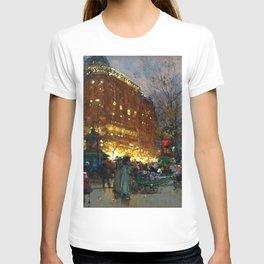 Le Grand Boulevard, Paris by Eugène Galien-Laloue T-shirt