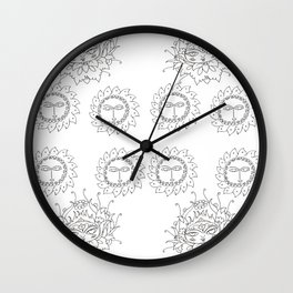 coloring book sunshine Wall Clock
