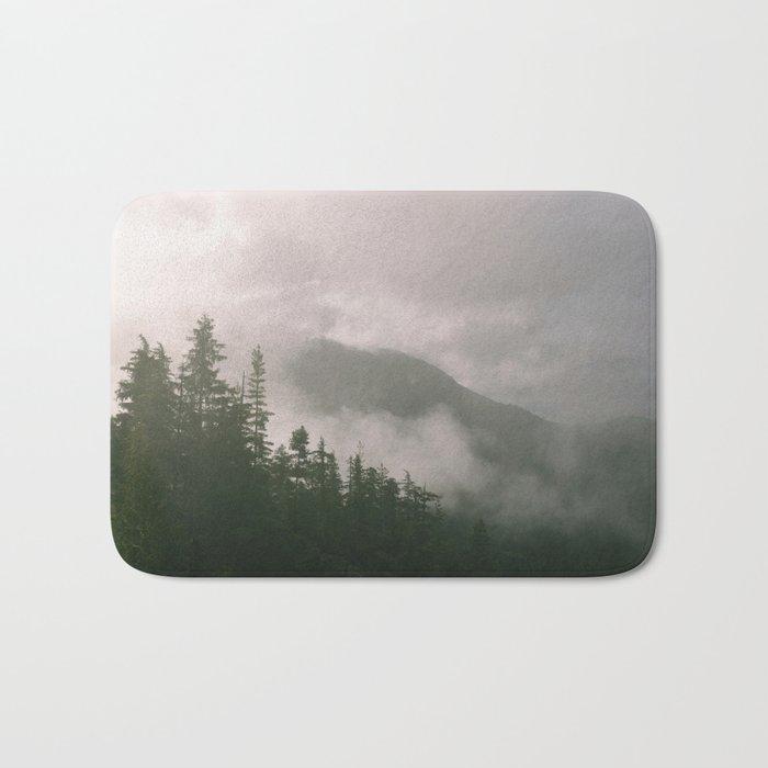 Foggy Forest (Squamish, British Columbia, Canada) Bath Mat