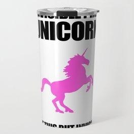 Invisible Pink Unicorn Travel Mug