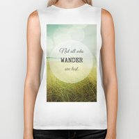 wander Biker Tanks featuring Wander by Olivia Joy St.Claire - Modern Nature / T