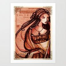 Desdemona - Othello - Shakespeare Folio Illustration  Art Print