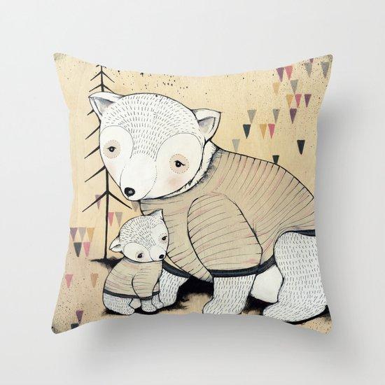 Mama Bear, Baby Bear Throw Pillow