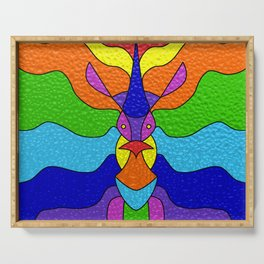 Stained Glass Unicorn Serving Tray
