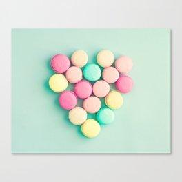 Macarons, macaroons heart II, pop art Canvas Print