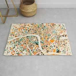 London Mosaic Map #4 Rug