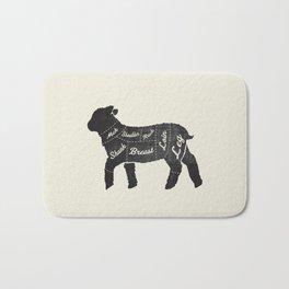 Lamb Butcher Diagram-Sheep Bath Mat