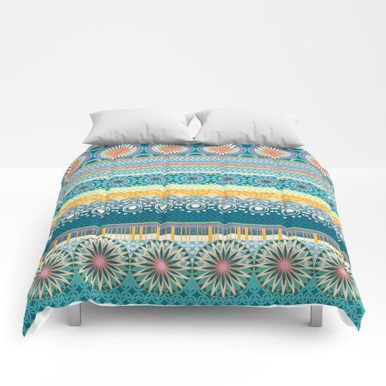 Blue Streaks Comforters