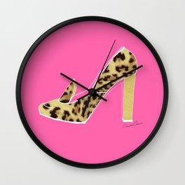 Leopard Shoe Wall Clock