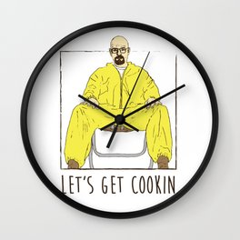 Walter White Let's Get Cookin Wall Clock