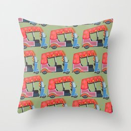 Rickshaw Fever Throw Pillow