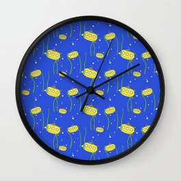 Yellow small submarine   Q9Q Pattern Wall Clock